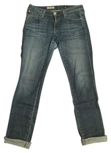 AG Adriano Goldschmied Premium Denim Fall Denim Straight Leg Jeans-Medium Wash