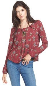 Free People Top Pomegranate Red