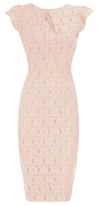 Dorothy Perkins Lace Pencil Short Sleeves Bodycon Dress