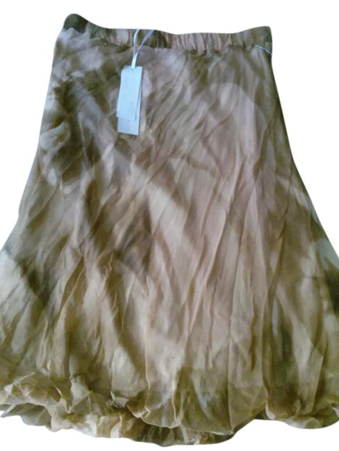 Item - Brown Tan Silk By Made In Italy Skirt Size 8 (M, 29, 30)
