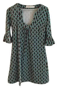 Tracy Negoshian short dress Turquoise and brown on Tradesy