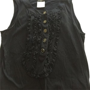 Chanel Ruffle Sleeveless Top Black