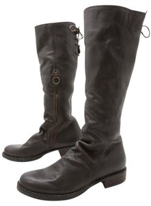 Fiorentini + Baker Leather Tall Lace-up Dark Brown Boots