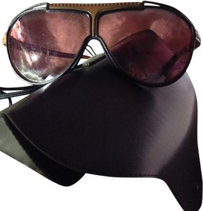 Ray-Ban RARE VINTAGE AVAITORS/SHOOTER RAY BAN'S ALL LEATHER FRAME