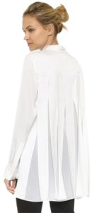 DKNY Classic Essential Professional Weekend Crisp Button Down Shirt White