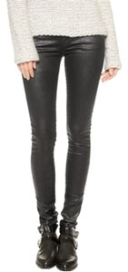 AG Adriano Goldschmied Faux Leather Coated Skinny Jeans-Coated