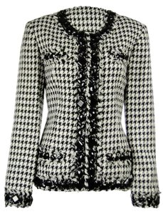 TravelSmith Black/White Houndstooth Jacket