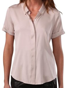 Theory Silk Wear To Work Button Down Shirt Elegance