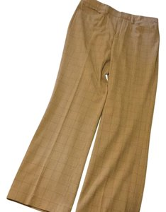 Gap Trouser Pants Camel plaid print