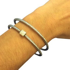 David Yurman Silver Cable Bangle Bracelet