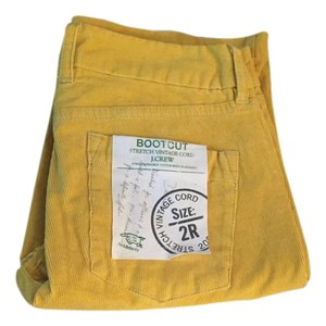 J.Crew Corduroy Cords Boot Cut Pants Vintage Mustard Yellow