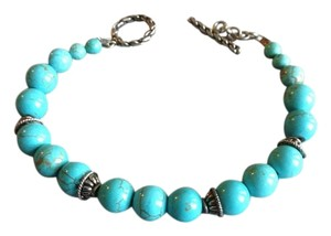 Other Authentic turquoise beaded and Sterling bracelet