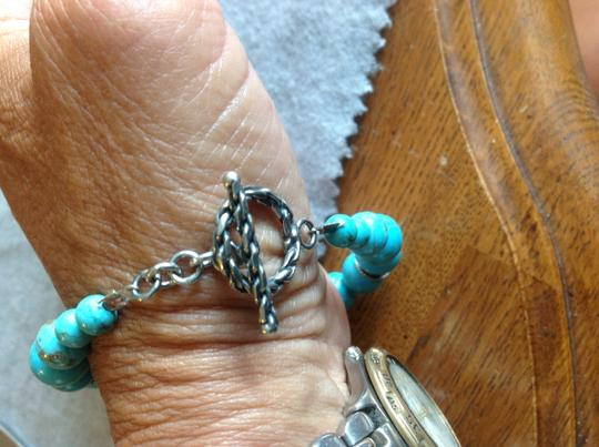 Other Authentic turquoise beaded and Sterling bracelet Image 1
