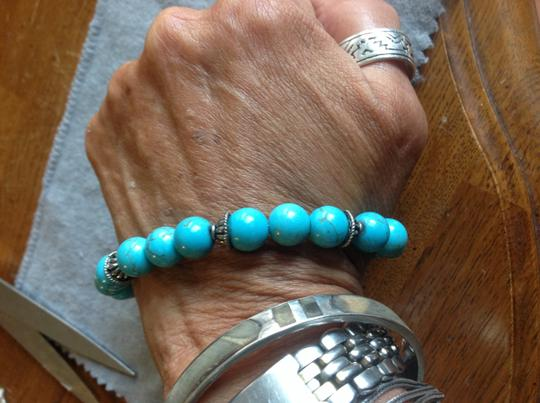 Other Authentic turquoise beaded and Sterling bracelet Image 2