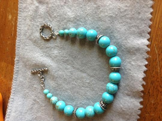 Other Authentic turquoise beaded and Sterling bracelet Image 4