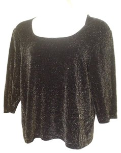 Avenue Sparkle Knit Top Black
