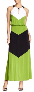 Lime/Black/White Maxi Dress by Maggy London Maxi
