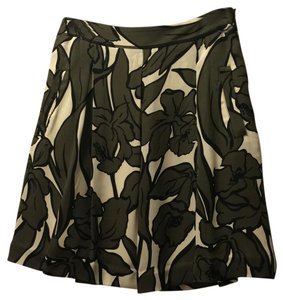 BCBGMAXAZRIA Skirt Green and beige