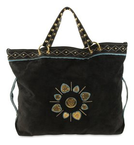 Gucci Suede Leather Oversized Irina Tote in Black