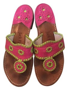 Jack Rogers Hot pink and lime green Sandals