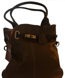 Cavalieri Leather Italian Pockets Tote in Brown