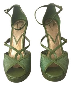 Vince Camuto Heels Strappy Green Pumps