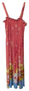 Pink, yellow, black, blue, yellow, red Maxi Dress by Nordstrom Silky Medium Cover Up
