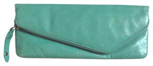 Hobo International Hobo Zipper Leather TURQUOISE Clutch