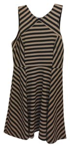 Rolla Coster short dress Black and off-white Stripes Shoulder Sexy on Tradesy