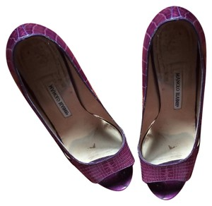 Manolo Blahnik size 41 shoes Purple Formal