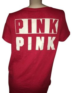 PINK T Shirt Red