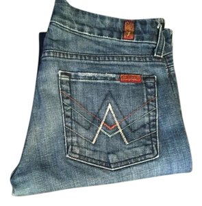 7 For All Mankind A Pocket Denim Straight Leg Jeans-Medium Wash
