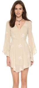 Free People short dress Beige/Cream on Tradesy