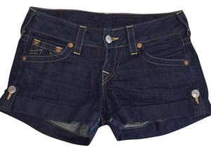 True Religion Cuffed Shorts Dark denim