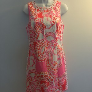 Lilly Pulitzer short dress pink floral Mila on Tradesy
