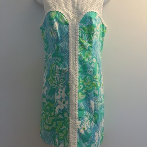 Lilly Pulitzer short dress Green, blue, white Sofiashift Lillypulitzersofia on Tradesy