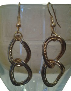 Handmade New HANDMADE Chain Links EARRINGS Vintage Gold NWOT