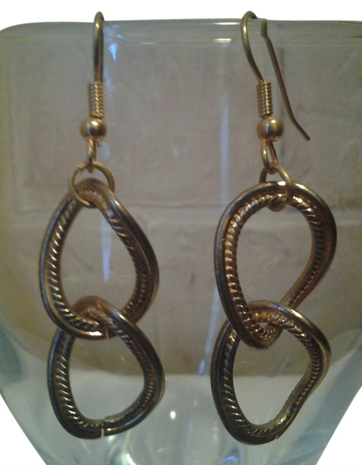 Antique Gold New Chain Links Vintage Earrings - Tradesy