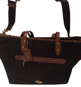 Coach Canvas Black Diaper Bag