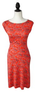 Diane von Furstenberg Geometric Print Stretchy Silk Dress