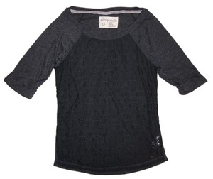 Aropostale 1/2 Sleeved Lace Thin Top Midnight Blue