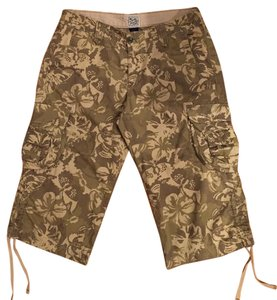 Lucky Brand Camouflage Cargo Capris Army green