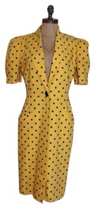 Leslie Fay Polka Dot Vintage Sheath Retro Dress