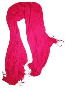 Other Bright Fringed Wide Long Shawl Scarf