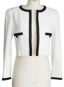 Chanel White w/ Black Trim Jacket