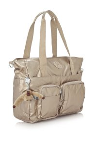 Kipling Travel Shoulder Tote in Gold