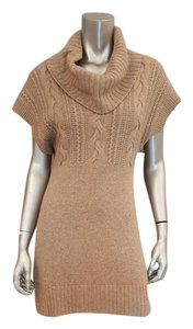 Banana Republic short dress Tan Wool Cashmere Cable-knit on Tradesy
