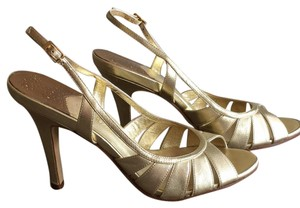 Cole Haan Gold Pumps