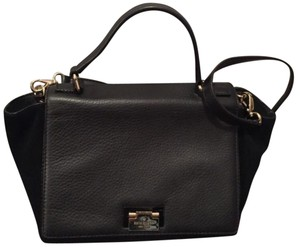 Kate Spade Satchel in Black With Gold Hardware