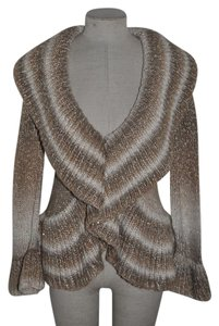 INC International Concepts Ombre Striped Sequin Knit Casual Sweater